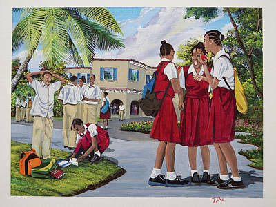 Memories Of High School Original by Gary Thomas