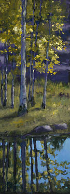 Sunlit Tree Painting - Memories Of Vienstenz-smith Mountain Park by Billie Colson
