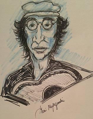 John Lennon Art Drawing - Memory Of John Lennon by Geraldine Myszenski