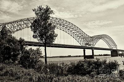 Memphis Bridge 1 Print by Miguel Celis