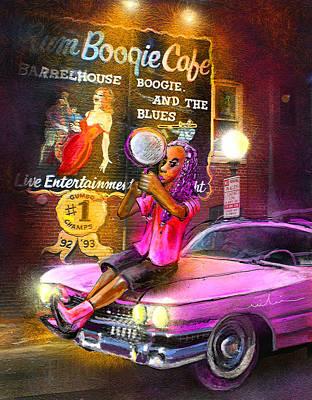 Art Miki Digital Art - Memphis Nights 01 by Miki De Goodaboom