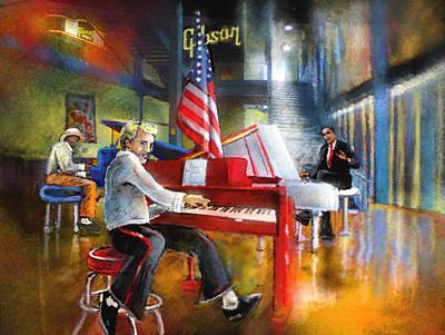 Barack Obama Mixed Media - Memphis Nights 04 by Miki De Goodaboom