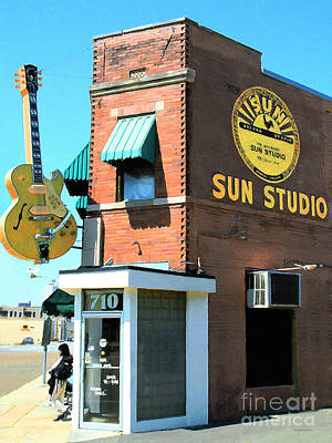 Rhythm And Blues Digital Art - Memphis Sun Studio Birthplace Of Rock And Roll 20160215 by Wingsdomain Art and Photography