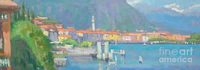 Lake Como Painting - Menaggio  by Jerry Fresia