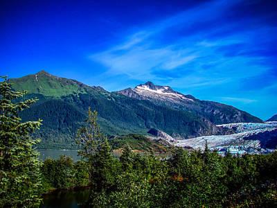 Alaska Photograph - Mendenhall Glacier Alaska by Scott McGuire