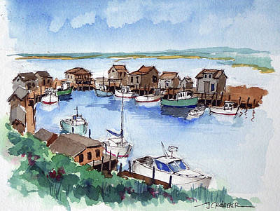 Menemsha Safe Haven Print by John Crowther