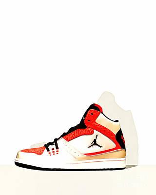 Sneakers Digital Art - Mens Air Jordan High Tops 20160227 by Wingsdomain Art and Photography