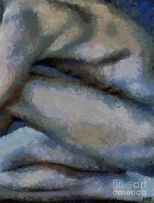 Figurative Painting - Men's Curves by Dragica  Micki Fortuna