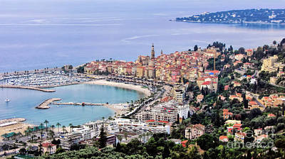 Menton Photograph - Menton.cote D Azur.france by Jennie Breeze