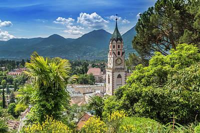 Mountain View Photograph - Merano Church Of St Nicholas by Melanie Viola
