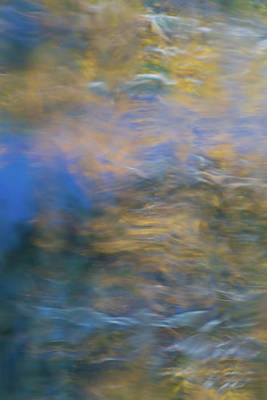 Reflections Of Sky In Water Photograph - Merced River Reflections 18 by Larry Marshall