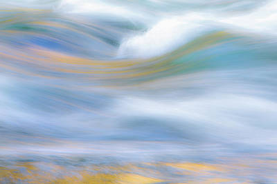 Reflections Of Sky In Water Photograph - Merced River Reflections 19 by Larry Marshall