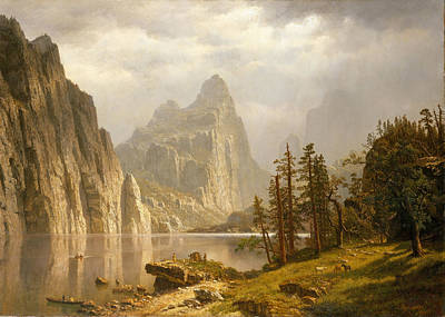 Valleys And Peaks Painting - Merced River. Yosemite Valley by Albert Bierstadt