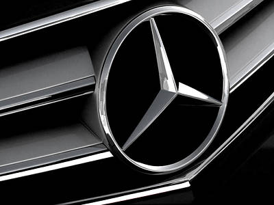 Mercedes Badge Print by Douglas Pittman