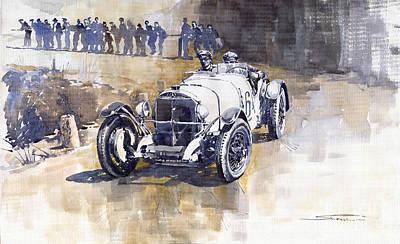 Vintage Sports Cars Painting - Mercedes Benz Ssk 1930 Rudolf Caracciola by Yuriy  Shevchuk