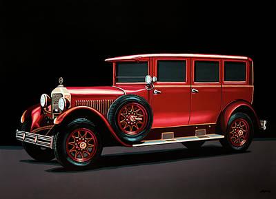 Mercedes-benz Typ 300 Pullman Limousine 1926 Painting Original by Paul Meijering