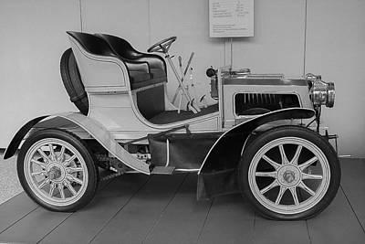 Antic Car Photograph - Mercedes Museum In Stuttgart by Brenda Mardinly