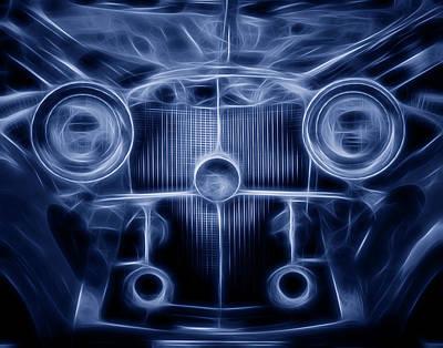 Mercedes Roadster Print by Tom Mc Nemar