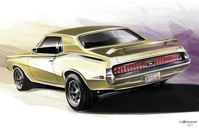 Automotive.digital Digital Art - Mercury Cougar Eliminator by Uli Gonzalez