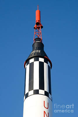 Concord Center Photograph - Mercury Redstone Rocket by Larry Landolfi