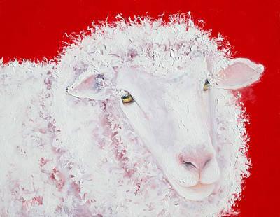 Merino Sheep Print by Jan Matson