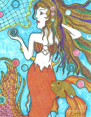 Arial Drawing - Mermaid Dreamer by Sherie Balko-Nation