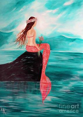 Little Mermaid Painting - Mermaid Dreams by Leslie Allen