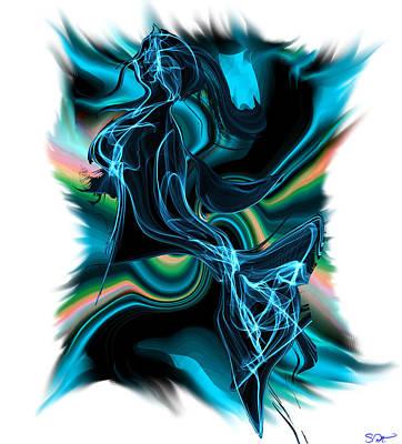 Woman Painting - Mermaid Fantasy by Abstract Angel Artist Stephen K