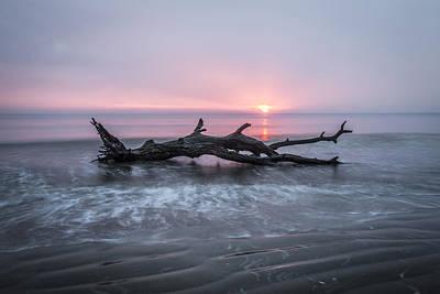 Mermaid Photograph - Mermaid In The Surf by Debra and Dave Vanderlaan
