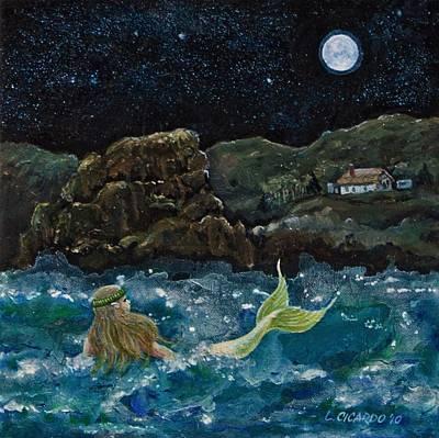 Make Believe Painting - Mermaid by Lou Cicardo