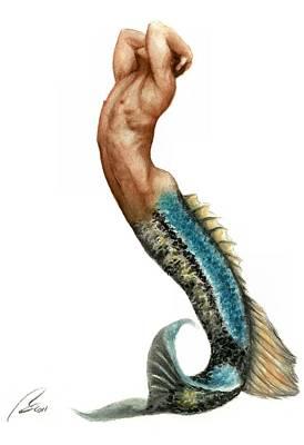 Merman Painting - Merman by Bruce Lennon