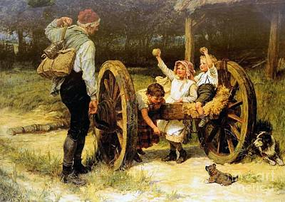 Merry As The Day Is Long Print by Frederick Morgan