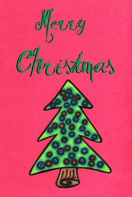 Merry Christmas Abstract Tree Print by Mandy Shupp
