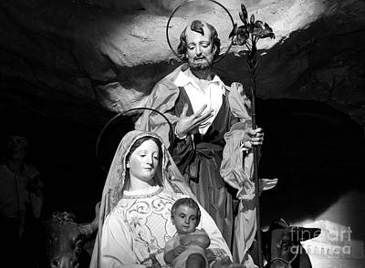 Merry Christmas - Black And White Print by Stefano Senise