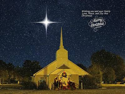 Merry Christmas Print by Delana Epperson