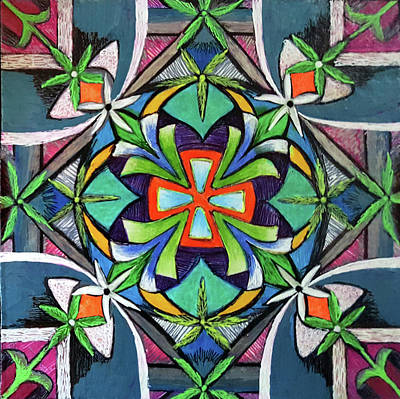 Merry Mandala Original by Ethel Mann