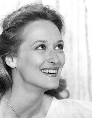Earrings Photograph - Meryl Streep (b.1949) by Granger