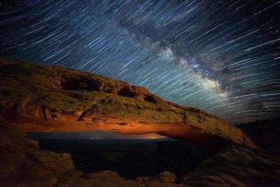 Night Workshop Photograph - Mesa Star Storm by Darren White