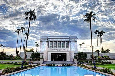 Holy Family Photograph - Mesa Temple Morning by Jaren Martineau