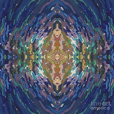 Juul Painting - Mesmerizing Mandala by Margaret Juul