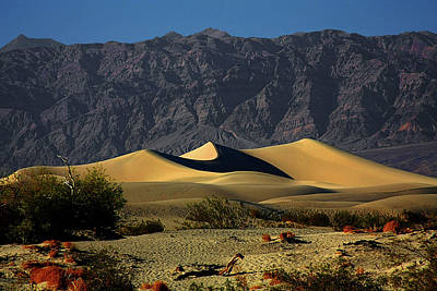 Mountain Range Photograph - Mesquite Flat Dunes - Death Valley California by Christine Till