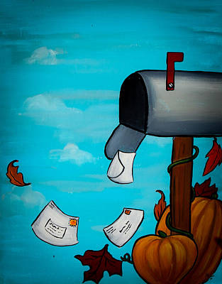 Messages Of Fall Print by Marisela Mungia