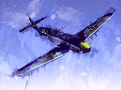 Messerschmitt Bf 109 Print by Michael Tompsett