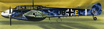 Nazi Painting - Messerschmitt by Wilf Hardy