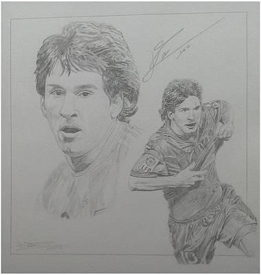 Messi Drawing - Messi by Jim Sloss
