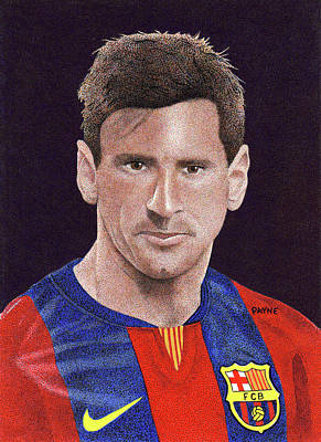 Messi Drawing - Messi by Rob Payne