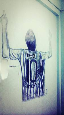 Messi Drawing - Messi Victory by Rahul Bose