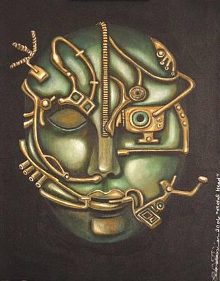 Metal Head Print by Leah Saulnier The Painting Maniac