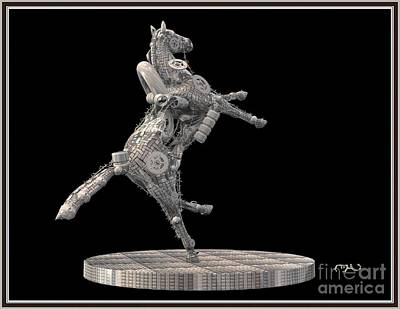 Metal Horse 29mh1 Print by Pemaro
