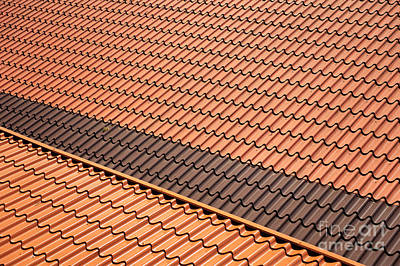 Metal Roof Tiles Sheet Abstract Print by Arletta Cwalina